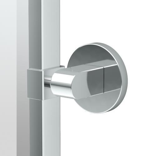 Zone Framed Oval Mirror in Satin Nickel