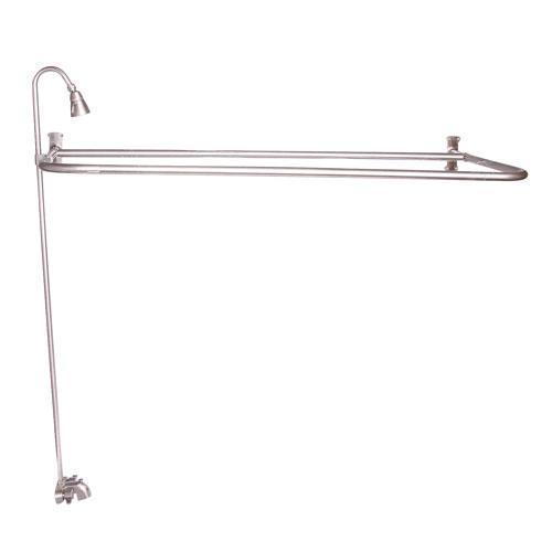 "Rectangular ""D"" Shower Unit - Brushed Nickel / 54"" x 26"""