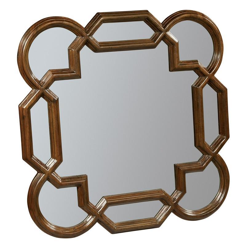 2-3273 Vintage European Square Lattice Mirror