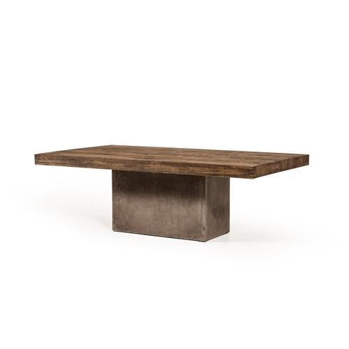 VIG Furniture - Modrest Renzo Modern Oak & Concrete Coffee Table