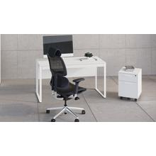 View Product - Linea 6227 Mobile File Pedestal in Smooth Satin White