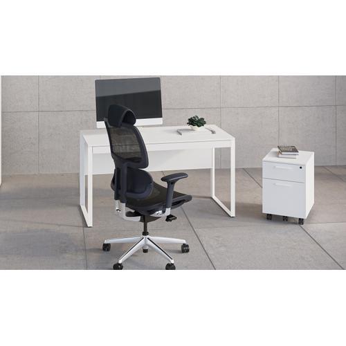 BDI Furniture - Linea 6227 Mobile File Pedestal in Smooth Satin White