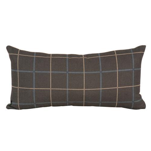 Howard Elliott - Kidney Pillow Oxford Slate - Down Insert