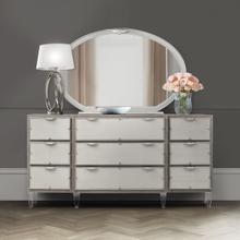 Storage Console- Dresser & Oval Mirror