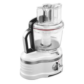 Pro Line® Series 16-Cup Food Processor with Die Cast Metal Base and Commercial-Style Dicing Kit Frosted Pearl White