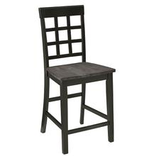 See Details - Counter Chair (2/Ctn) - Gray/Black Finish