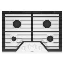 See Details - 30-inch Gas Cooktop with EZ-2-Lift™ Hinged Cast-Iron Grates White