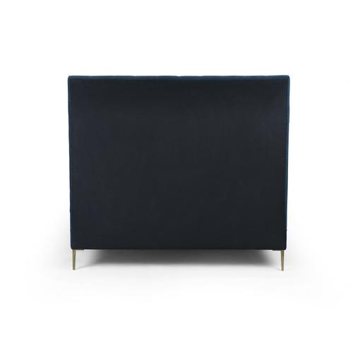 """Queen Size Plush Navy Cover Rennie Bed - 60"""""""