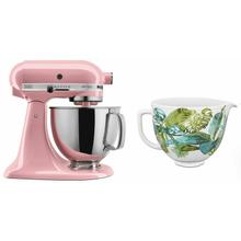 See Details - Exclusive Artisan® Series Stand Mixer & Patterned Ceramic Bowl Set - Guava Glaze