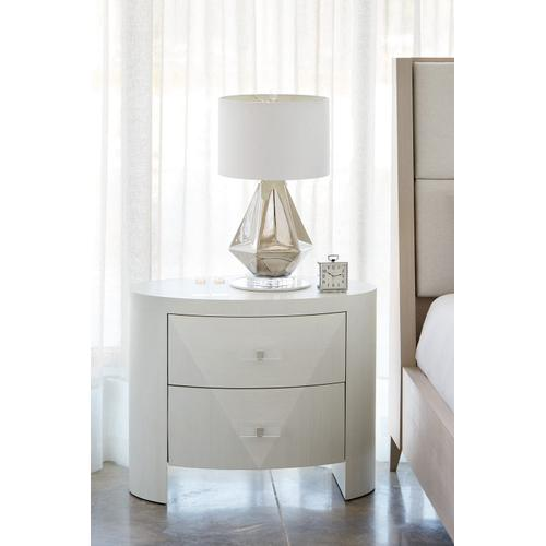 Axiom Oval Nightstand in Linear White (381)