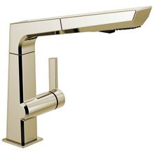 View Product - Polished Nickel Single Handle Pull Out Kitchen Faucet