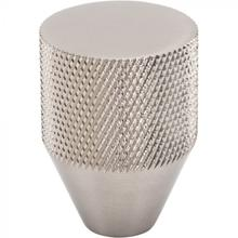View Product - Beliza Conical Knurled Knob 1 Inch Brushed Satin Nickel Brushed Satin Nickel