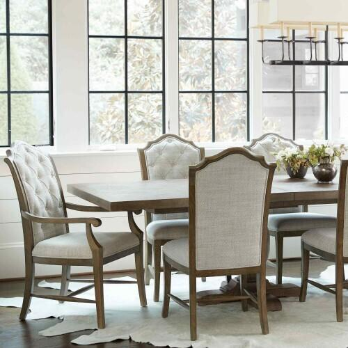 Gallery - Rustic Patina Rectangular Dining Table in Peppercorn (387)