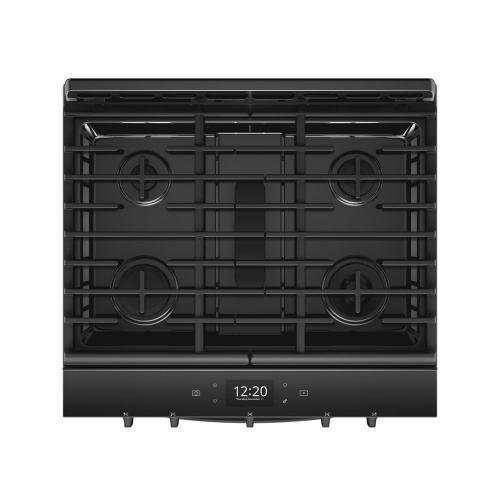 Gallery - 5.8 cu. ft. Smart front control Gas Range with EZ-2-Lift Hinged Cast-Iron Grates