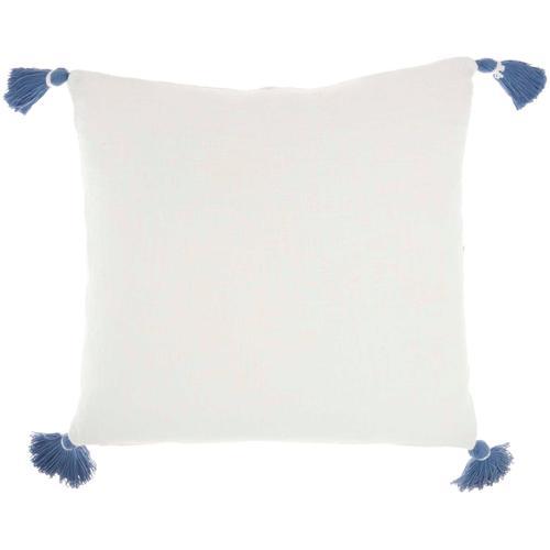 "Life Styles Sh038 Blue 20"" X 20"" Throw Pillow"