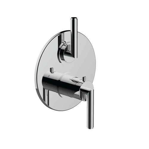 "7095fo-tm - 1/2"" Thermostatic Trim With Volume Control in Matte Black"