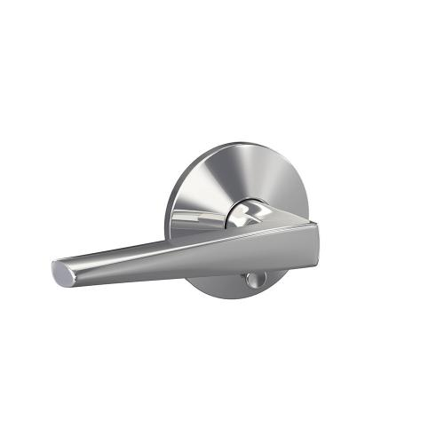 Custom Eller Lever with Kinsler Trim Hall-Closet and Bed-Bath Lock - Bright Chrome