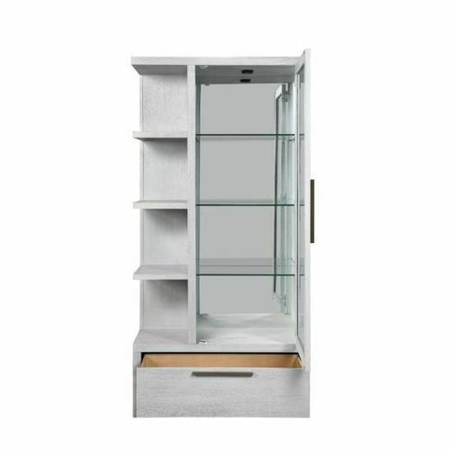 ACME Aromas Curio - 68115 - Coastal - Glass, Wood (Poplar), Wood Veneer (Oak), MDF, Ply, PB - White Oak