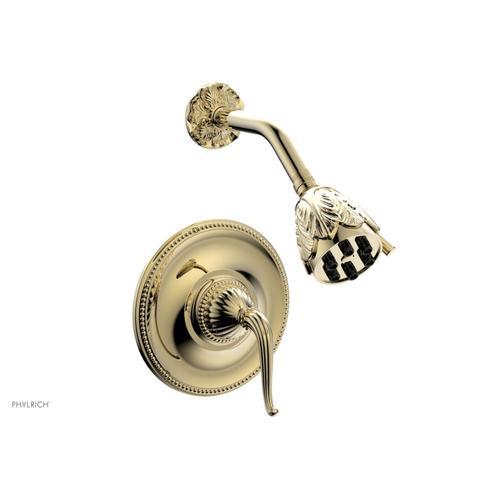 GEORGIAN & BARCELONA Pressure Balance Shower Set - Lever Handle PB3141 - Polished Brass Uncoated