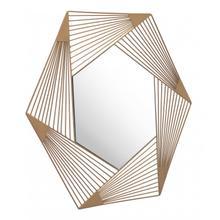 Aspect Hexagonal Mirror Gold