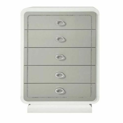 ACME Allendale Chest - 20196 - Ivory & Latte High Gloss