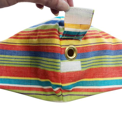 Happy Hour Reusable Face Mask in Tracon Stripe