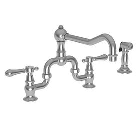 Stainless Steel - PVD Kitchen Bridge Faucet with Side Spray