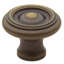 Satin Brass and Black Rope Knob