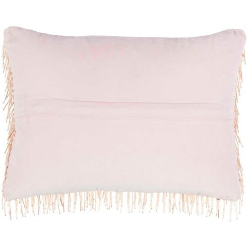 "Luminescence Z0727 Blush 10"" X 14"" Throw Pillow"