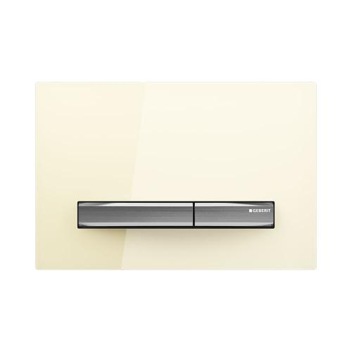 Sigma50 Dual-flush plates for Sigma series in-wall toilet systems Sand glass Finish