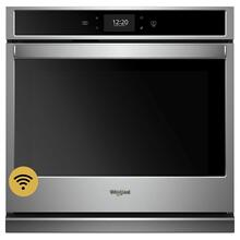 See Details - 4.3 cu. ft. Smart Single Wall Oven with True Convection Cooking Stainless Steel
