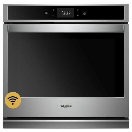 Whirlpool - 4.3 cu. ft. Smart Single Wall Oven with True Convection Cooking Stainless Steel