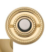Vintage Brass Beaded Bell Button