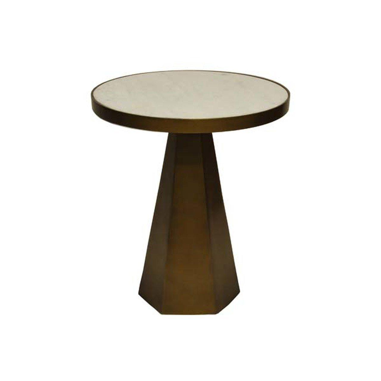 Woodrowabrwhmworlds Away With Its Modern Geometric Form And Mixed Materials Palette Our Woodrow Side Table Is On Trend In Every Way Finished In Antique Brass With A Luminous White Marble Top It