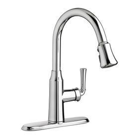 Portsmouth 1-Handle Pull Down 1.5 GPM High-Arc Kitchen Faucet  American Standard - Polished Chrome