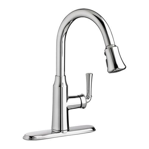 Portsmouth 1-Handle Pull Down High-Arc Kitchen Faucet  American Standard - Polished Chrome