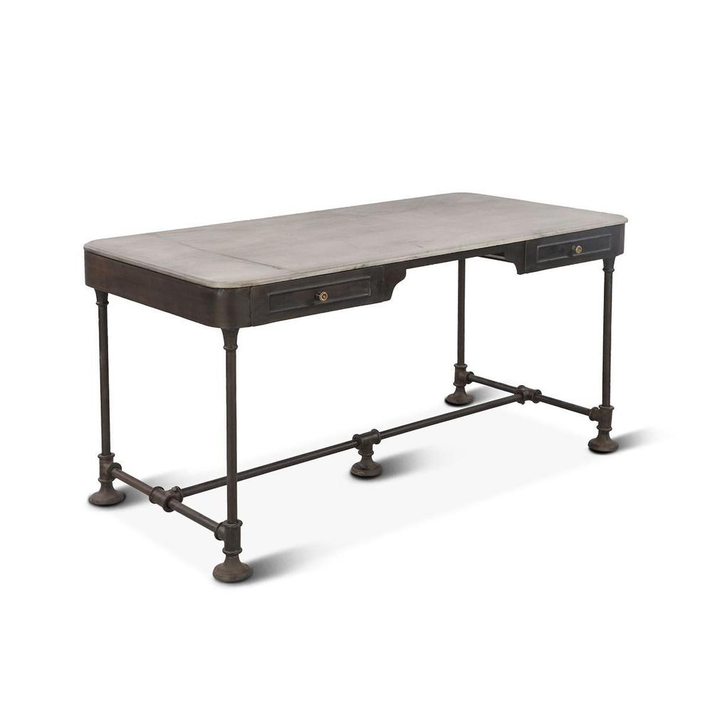 """Bowery 58"""" Desk with Marble Top"""