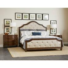 Thoroughbred Manor Upholstered Bed - Toast / King