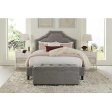 See Details - CASEY - SHIMMER Upholstered Bed Collection (Grey)
