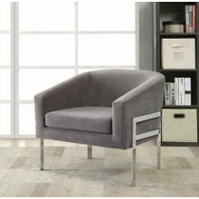 See Details - Contemporary Grey Accent Chair