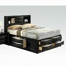 ACME Ireland Queen Bed w/Storage - 21610Q KIT - Black