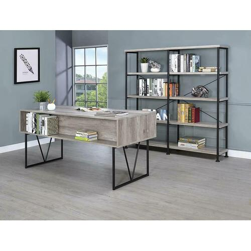 Coaster - Guthrie Industrial Grey Driftwood Bookcase