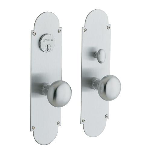 Satin Chrome Boston Entrance Set
