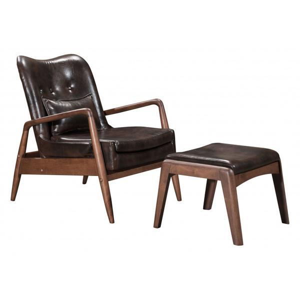 See Details - Bully Lounge Chair & Ottoman Brown