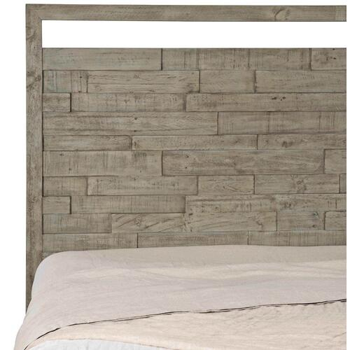 King Shaw Panel Bed in Morel