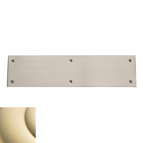 Lifetime Polished Brass Square Edge Push Plate