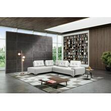 ACME Turano Sectional Sofa , Pearl White Leather - LV00215