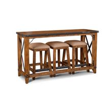 """See Details - Urban Rustic Counter Height Console / Urban Rustic 24"""" Square Stool"""