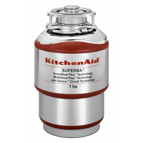 KitchenAid - 1-Horsepower Continuous Feed Food Waste Disposer - Red