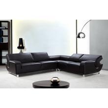 See Details - Divani Casa Motif - Modern Leather Sectional Sofa